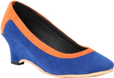 Butterfly Women Blue, Orange Heels