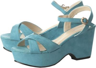 Vero Couture Women Blue Wedges