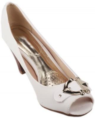 Moda Brasil Women White Heels