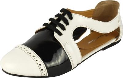 Inspiration Lkbwps Women White, Black Flats