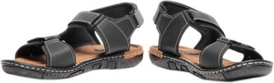 Pede Milan Volo 2401-Black Men Black Sandals