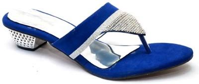 Vogueguys Blue Killer Sliper Women Blue Heels