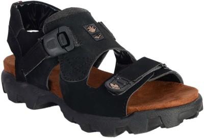 Royal cruzz Men Black Sandals