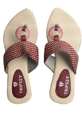 Tripssy Women Maroon Heels