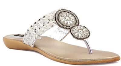 Wellworth Women Silver Flats