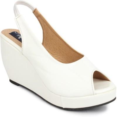 Sindhi Footwear Women White Wedges