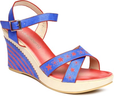 Dressberry Women BLUE/RED Wedges at flipkart
