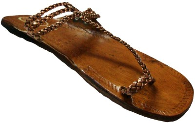 ADS Ethnic Cross Meshed Women Brown Flats
