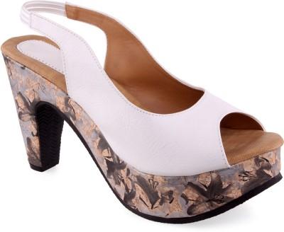 Aashka Women White Heels