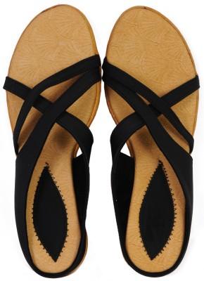 Style Foot Women Black Wedges