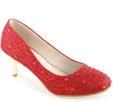 Shuz Touch Women Red Heels at flipkart