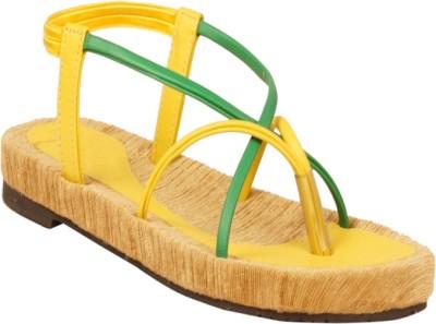 Zachho Women Yellow Flats