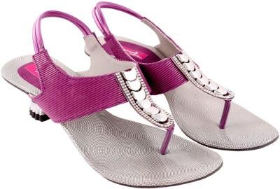 Vinayak Collection Women Purple Heels