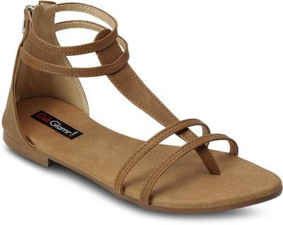 Get Glamr Women Tan Flats