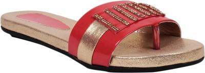Pink 18 Women Red, Gold Flats