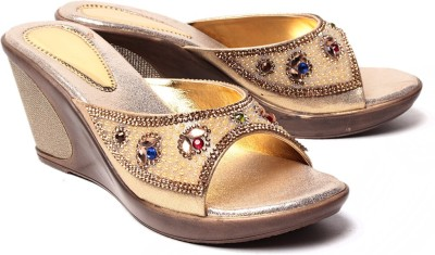 Monaliza Women Gold, Gold Wedges