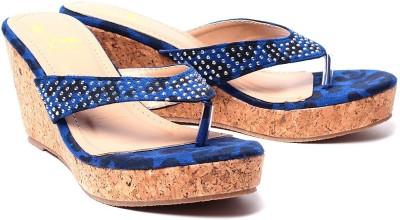 Klaur Melbourne 668-FD-Blue Women Blue Wedges