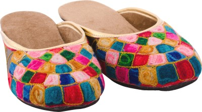 Myra Colorful Embroidered Women Multicolor Flats