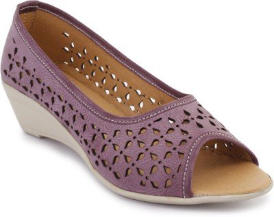Metrogue Women Purple, White Wedges