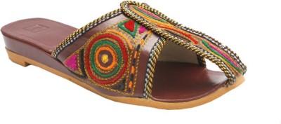 Stophere Mule Women Multicolor Flats