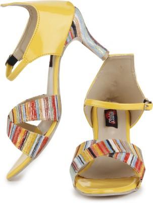 Naisha Women Yellow Heels