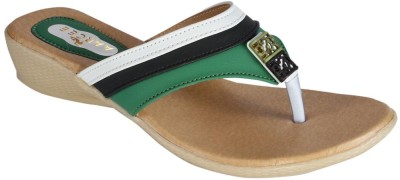 Recent Collection Women Black, Green Wedges