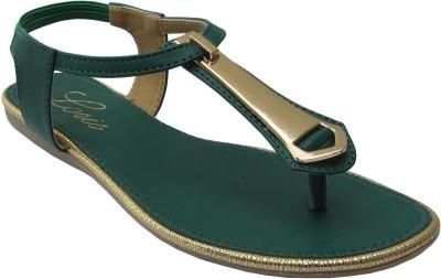 LORIS Women Green Flats