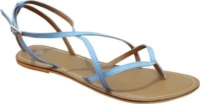 Suri Leather Knockout Cheap Women Blue Flats