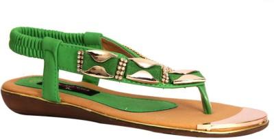 Trilokani Women Green Flats