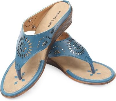 Pero Lino Women Blue Wedges