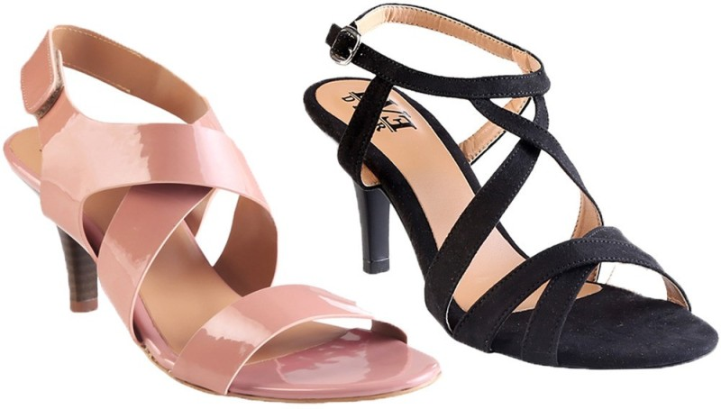 Eve Dior Women Black Pink Heels...
