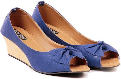 TEN Women Blue Wedges