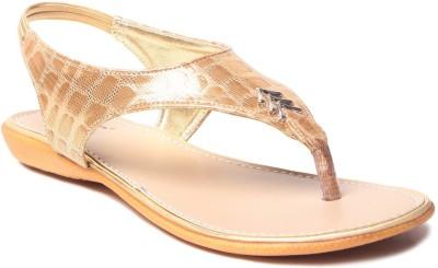 MSC Women Gold Flats