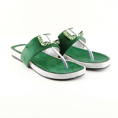 Cenizas Flat Tie Women Green Flats