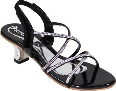 Primes Women Black, Silver Heels