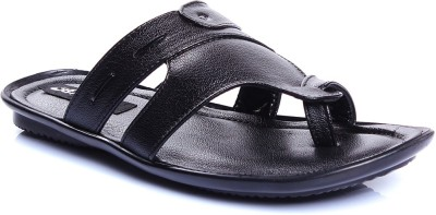 Blue-Tuff Men Black Sandals