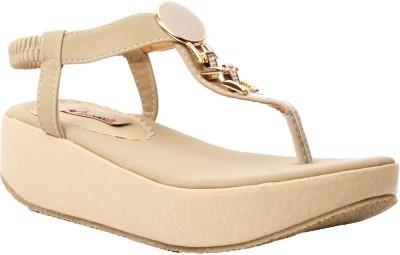 Foot Candy Women Khaki Wedges