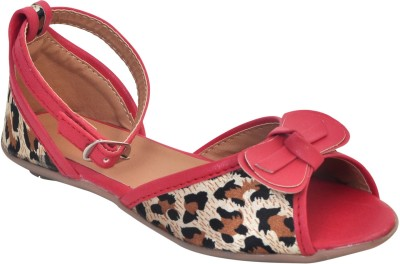 Stepee Girls Red Sandals