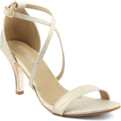 Wellworth Women Gold Heels