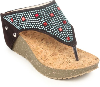 Stylistry Brown Colour Wedges Women Brown Wedges