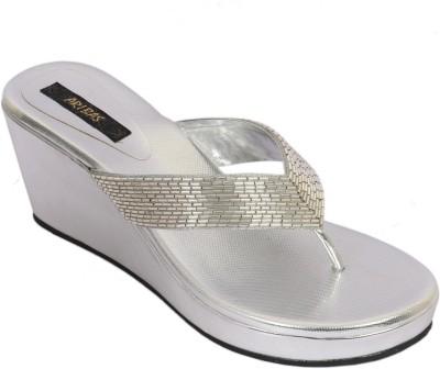 ARIBAS Women Silver Wedges