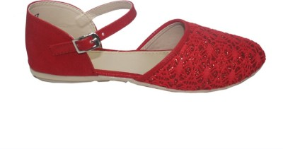 WeDeshi Women Red Wedges