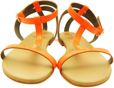 Rhythm & Shoes Women Orange Flats
