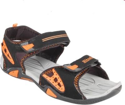 Hitcolus Men Black, Orange Sandals