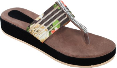 Clever Steps Women Brown Sandals