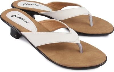 Finesse Women White Heels