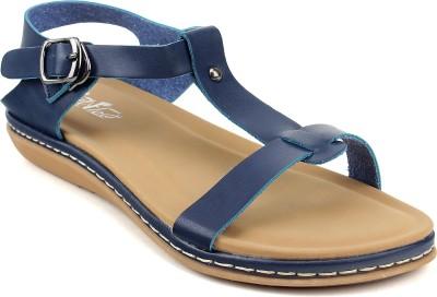 FEET FLOW Women Blue Flats