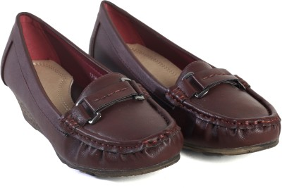Pinza Comfortable Square Toe Women Brown Wedges