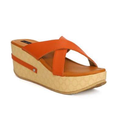 Funku Fashion Women Orange, Orange Wedges