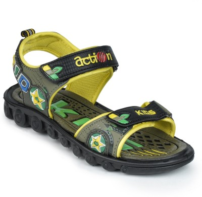 Action Shoes KS-509 Boys, Girls Yellow Sandals